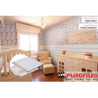Painel PVC top luxo Floral 250x07mm Liso