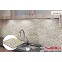 Painel PVC top Luxo Mosaico Bege 250x07mm Liso